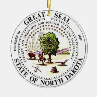 Dakota del Norte * ornamento del navidad Adorno Navideño Redondo De Cerámica