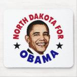 Dakota del Norte para Obama Tapete De Ratón