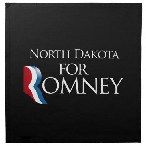 Dakota del Norte para Romney - .png Servilletas