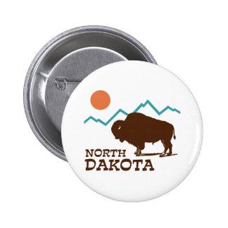 Dakota del Norte Pin Redondo De 2 Pulgadas