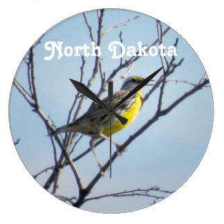 Dakota del Norte Reloj Redondo Grande