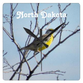 Dakota del Norte Reloj Cuadrado