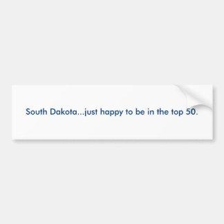 Dakota del Sur… apenas feliz de estar en los 50. s Pegatina Para Auto