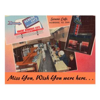 Dakota del Sur, café de Sereno, Mobridge Postales