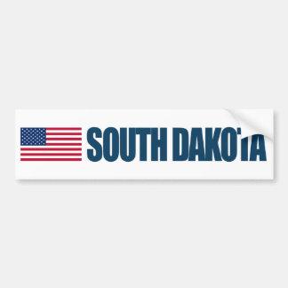 Dakota del Sur con la bandera de los E.E.U.U. Pegatina Para Auto
