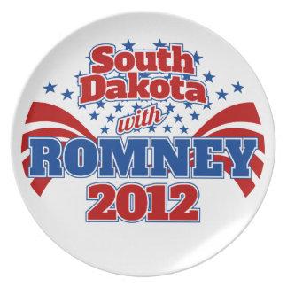 Dakota del Sur con Romney 2012 Plato De Cena