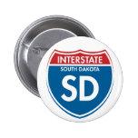 Dakota del Sur de un estado a otro SD Pins