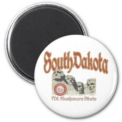 Dakota del Sur Imán Redondo 5 Cm
