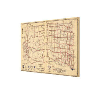 Dakota del Sur Lona Envuelta Para Galerías