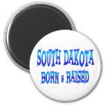 Dakota del Sur llevado y aumentado Imanes Para Frigoríficos
