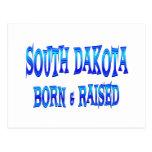 Dakota del Sur llevado y aumentado Postal