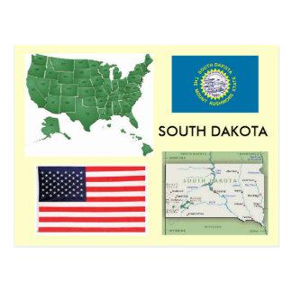 Dakota del Sur, los E.E.U.U. Tarjeta Postal