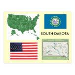Dakota del Sur, los E.E.U.U. Tarjetas Postales