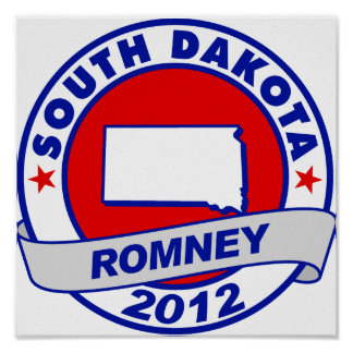 Dakota del Sur Mitt Romney Posters
