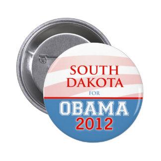 DAKOTA DEL SUR para Obama 2012 Pin
