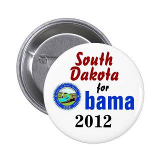 Dakota del Sur para Obama 2012 Pins