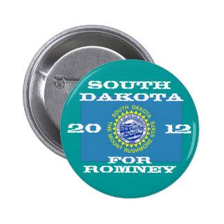 Dakota del Sur para Romney 2012 Pin Redondo De 2 Pulgadas