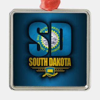 Dakota del Sur (SD) Adorno Navideño Cuadrado De Metal