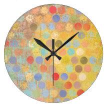Dakota Dot Wall Clock (square or round)