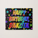 "[ Thumbnail: ""Dakota"" First Name, Fun ""Happy Birthday"" Jigsaw Puzzle ]"