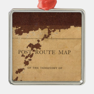 Dakota Territory post route map Christmas Tree Ornament