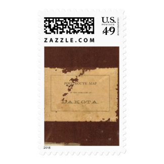 Dakota Territory post route map Postage Stamps