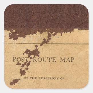 Dakota Territory post route map Stickers