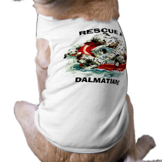 DAL ~ DALMATIANS IN LIFE RING ~GR8 RESCUE PET WEAR T-Shirt