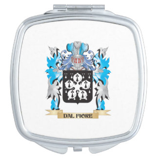 Dal-Fiore Coat of Arms - Family Crest Travel Mirror