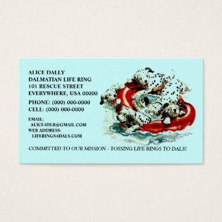 DAL ~ PROMOTE DALMATIAN RESCUE NFP BUSINESS CARDS! BUSINESS CARD