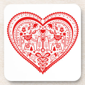Dala Heart Beverage Coaster