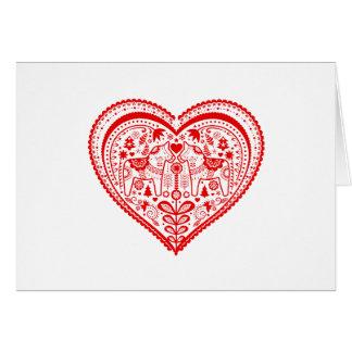 Dala Heart Card