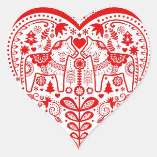 Dala Heart Heart Sticker