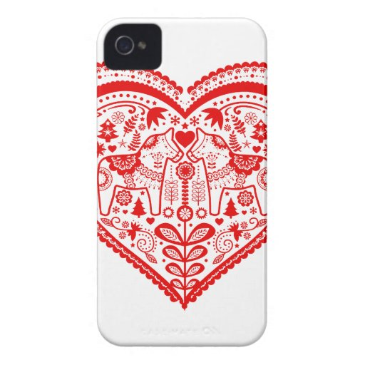 Dala Heart iPhone 4 Case-Mate Cases