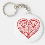 Dala Heart Key Chain