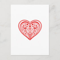 Dala Heart Postcard