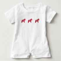 Dala Horse Baby Romper