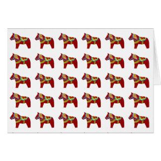 Dala Horse Birthday Card