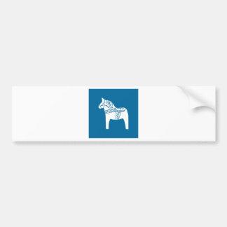 Dala Horse Blue Bumper Sticker