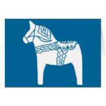 Dala Horse Blue Card
