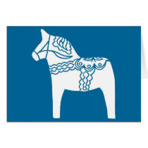 Dala Horse Blue Card