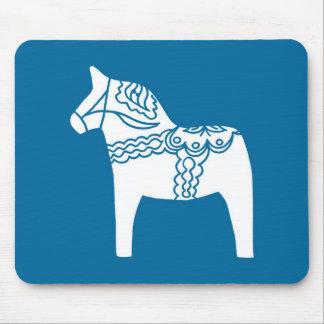Dala Horse Blue Mouse Pad