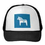 Dala Horse Blue Trucker Hat