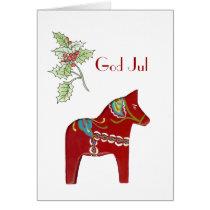 Dala Horse Christmas Card