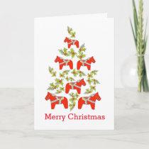 Dala Horse Christmas Tree Card