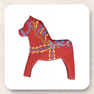 Dala Horse Coaster Set