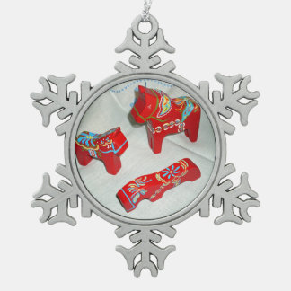 Dala Horse Collection Christmas Snowflake ornament