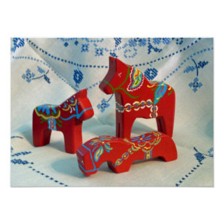 Dala Horse Collector's Poster
