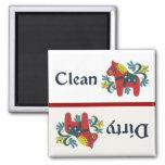 Dala Horse Dishwasher Helper 2 Inch Square Magnet