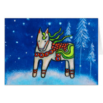 Dala Horse I Christmas Card